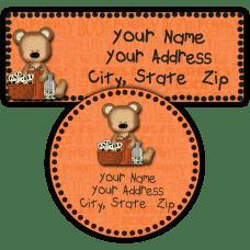 Halloween Bear 2 Return Address Labels