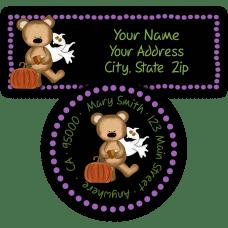 Halloween Bear Return Address Labels