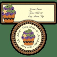 Halloween Cupcake Return Address Labels