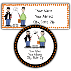Halloween Friends Return Address Labels