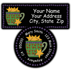 Hallowen Mug Return Address Labels