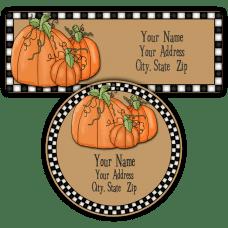 Harvest Pumpkins Return Address Labels