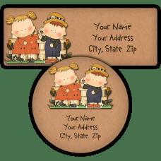 Harvest Tots Return Address Labels