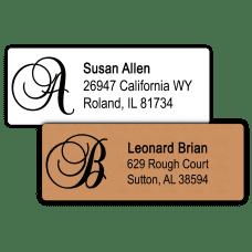 Script Monogram Return Address Labels