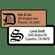 Gothic Monogram Return Address Labels
