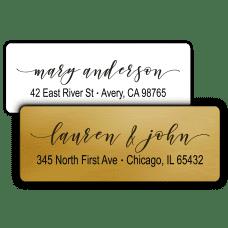 Elegant Script Return Address Labels