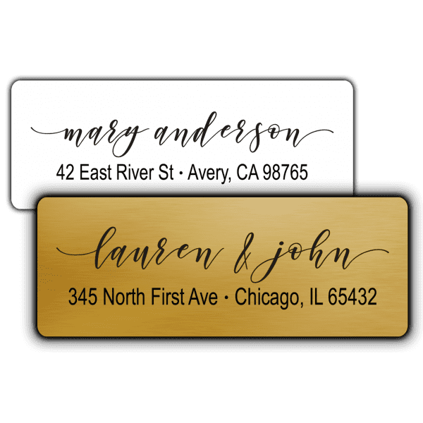 Elegant Script Return Address Labels