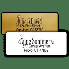 Fancy Scroll Return Address Labels