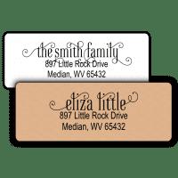 Fancy Scroll Script Return Address Labels