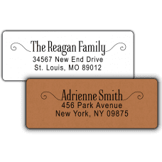 Modern Scroll Return Address Labels