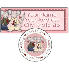 Country Mice Couple Return Address Label