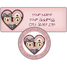 Annie & Andy Valentine Return Address Label
