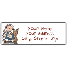 Annie & Rudolf Return Address Label