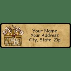 Candy Cane Basket Return Address Label