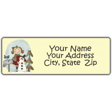 Bailey's Snowman Return Address Label