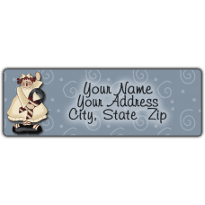 American Holiday Annie Return Address Label