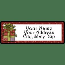 Christmas Present Return Address Label