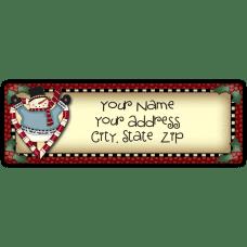 Candy Cane Heart Snowman Return Address Label