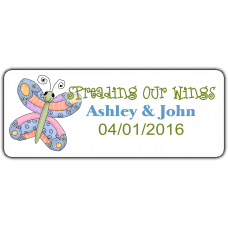 Stained Glass Butterflies Wedding Favor Stickers