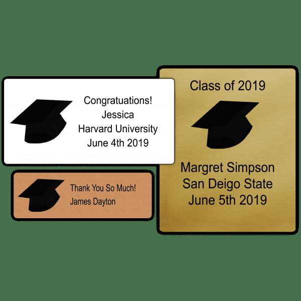 Black Grad Hat Party Favor Stickers