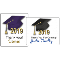 """Graduation Hats 4"""" by 3.33"""" Party Favor Stickers"""