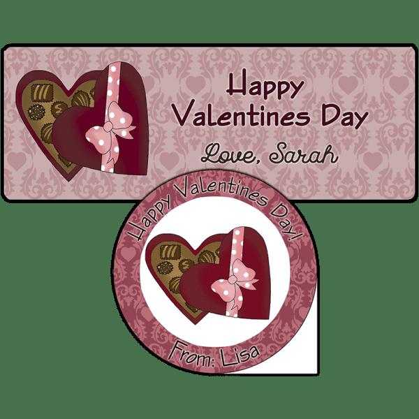 Valentine Candy Box Stickers