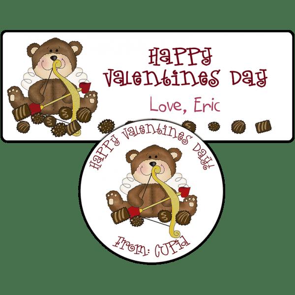 Cupid Teddy Bear Stickers