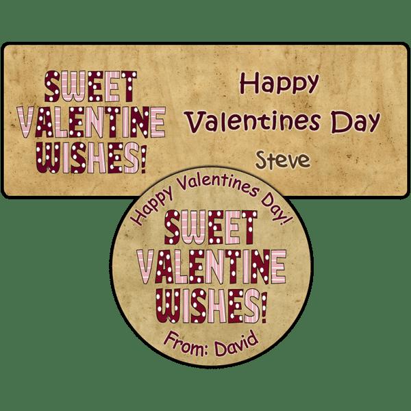Sweet Valentine Wishes Stickers