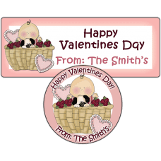 Valentine Baby Boy Basket Stickers