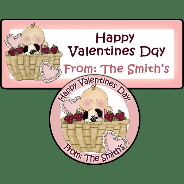 Valentine Baby Boy Basket Stickers