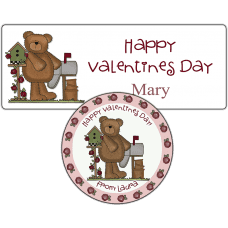 Mailbox Roses Bear Stickers