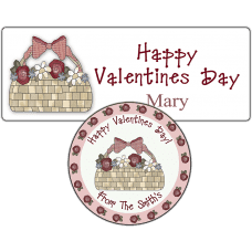Basket of Roses Stickers