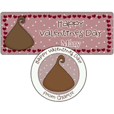 Chocolate Kiss Stickers