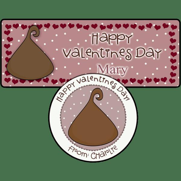 Chocolate Kiss Stickers