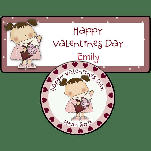 Valentine Girl Stickers