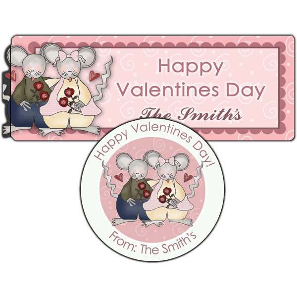 Country Mice Couple Stickers