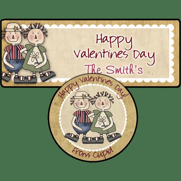 Raggedy True Love Stickers
