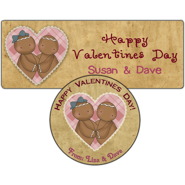 Valentine Gingers Stickers