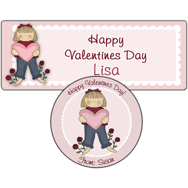 Valentine Girl 2 Stickers