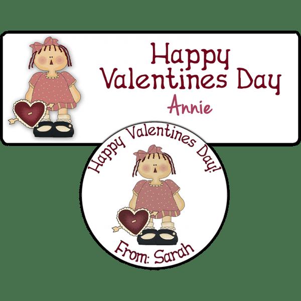 Red Heart Annie Stickers