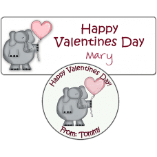 Valentine Elephant Stickers