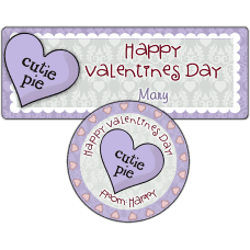 Cutie Pie Candy Heart Stickers
