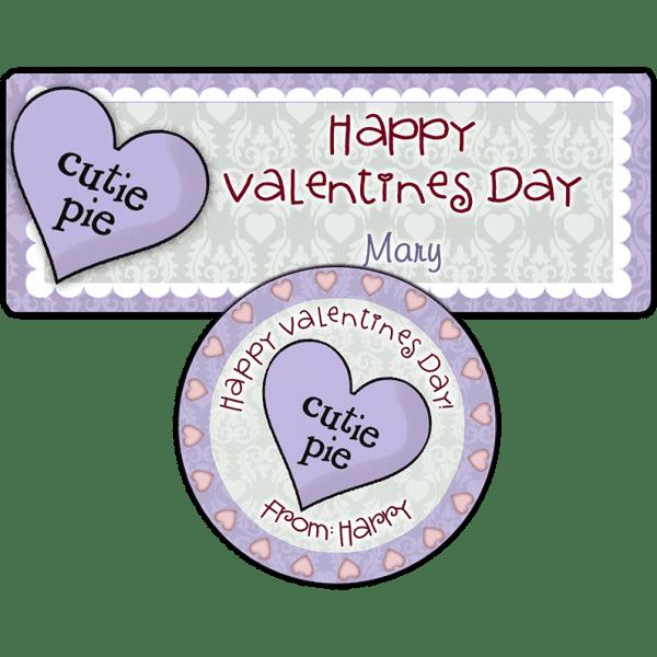 Cutie Pie Candy Heart Stickers