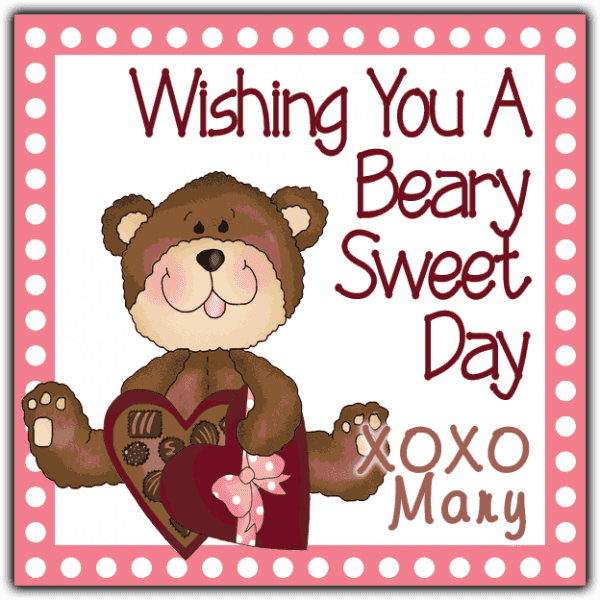 Valentine Candy Box Teddy Bear Square Sticker