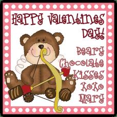 Cupid Teddy Bear Square Sticker