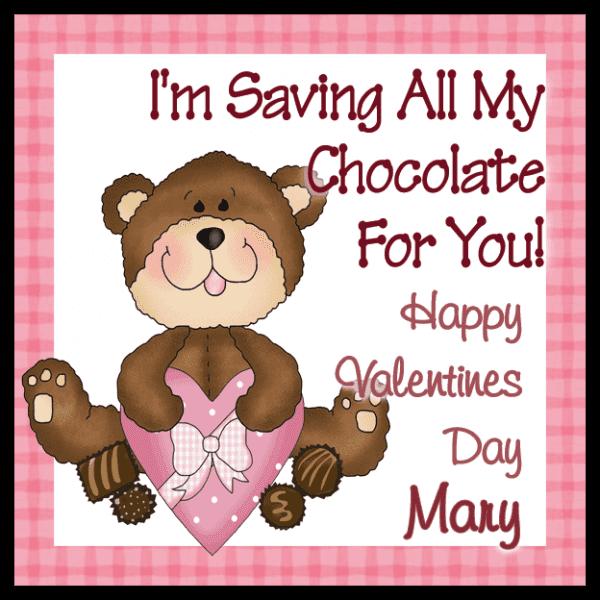 Pink Heart Box Teddy Bear Square Sticker