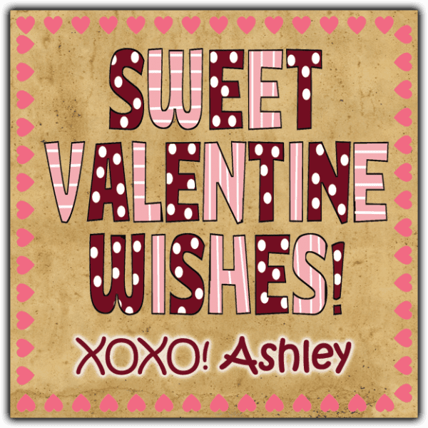 Sweet Valentine Wishes Square Sticker