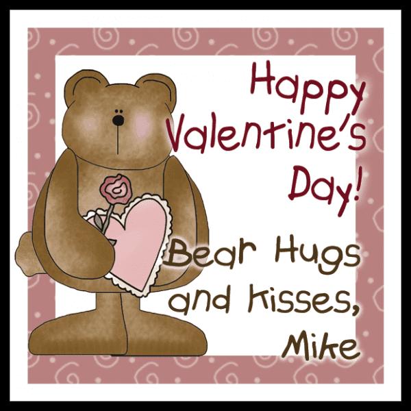 Valentine Bear Square Sticker