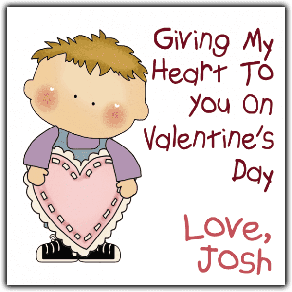 Valentine Boy Square Sticker
