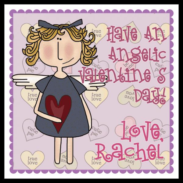 Valentine Angel Square Sticker